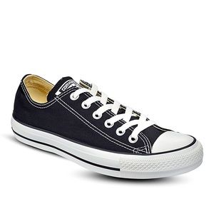 Converse black low tops